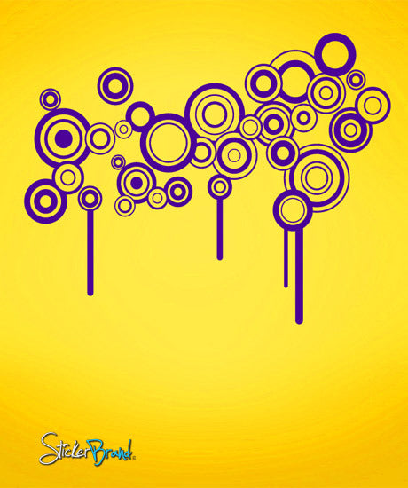 Vinyl Wall Decal Sticker Modern Circle Patterns #694