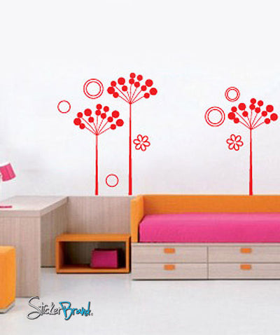 Vinyl Wall Decal Sticker Kids Flower Room #697