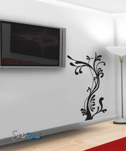 Vinyl Wall Decal Sticker Wavy Tree #700