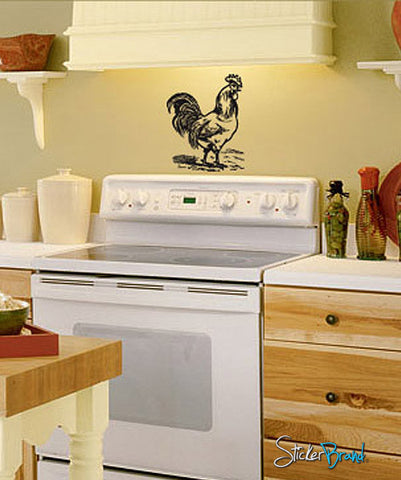 Vinyl Wall Decal Sticker Chicken #703