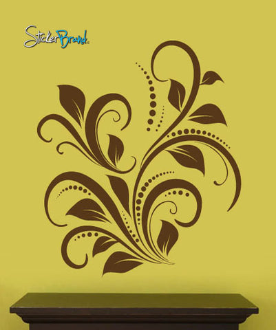 Swirl Flower Floral Wall Decal Home Decor. #705