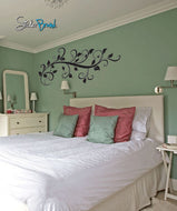 Vinyl Wall Decal Sticker Floral Swirl #706