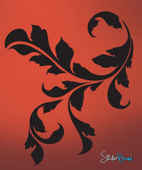 Vinyl Wall Decal Sticker Floral Leaf #709
