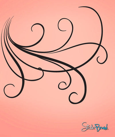 Vinyl Wall Decal Sticker Large Swirl Lines #710