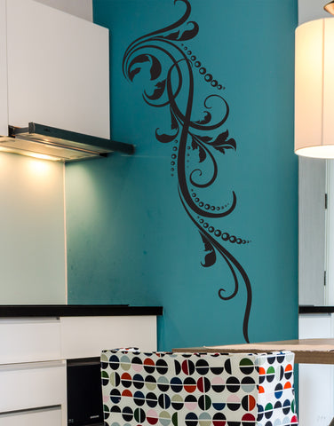 Swirl Dots L Pattern Vinyl Wall Decal Sticker. #711