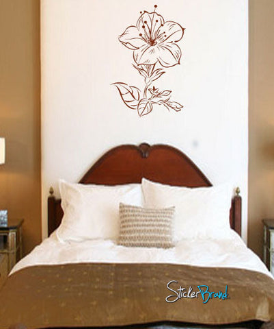 Vinyl Wall Decal Sticker Flower #712