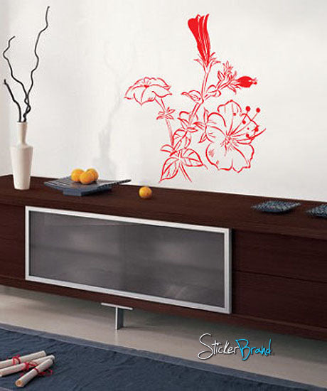 Vinyl Wall Decal Sticker Flower Stem #713