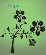 Vinyl Wall Decal Sticker Large Flower Pattern #714