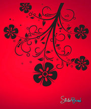 Vinyl Wall Decal Sticker Flower Swirl Pattern #715