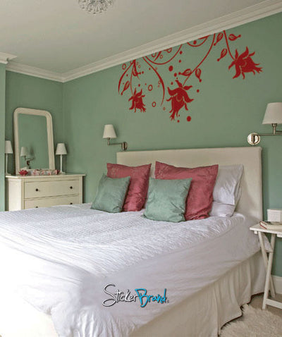 Vinyl Wall Decal Sticker Flower from Ceiling #717