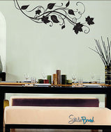 Vinyl Wall Decal Sticker Autumn Swirl Leaves #719
