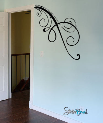 Swirl Vine Pattern Vinyl Wall Decal Sticker. #721