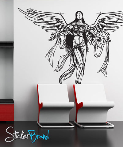 Vinyl Wall Decal Sticker Angel Drawing Sketch #772