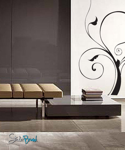 Vinyl Wall Decal Sticker Swirl Tree #726