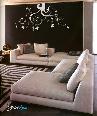 Vinyl Wall Decal Sticker Hanging Swirl Leaves #727
