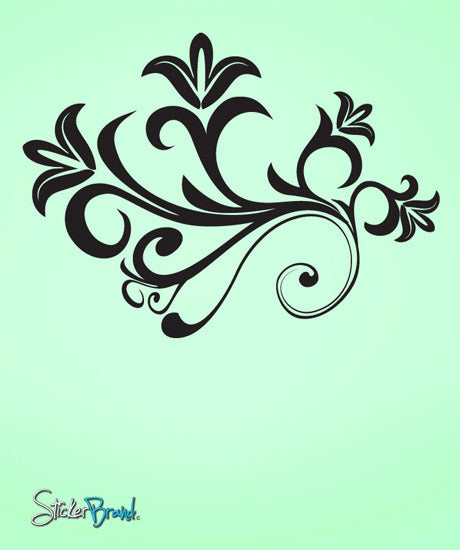 Vinyl Wall Decal Sticker Flower Swirl #728