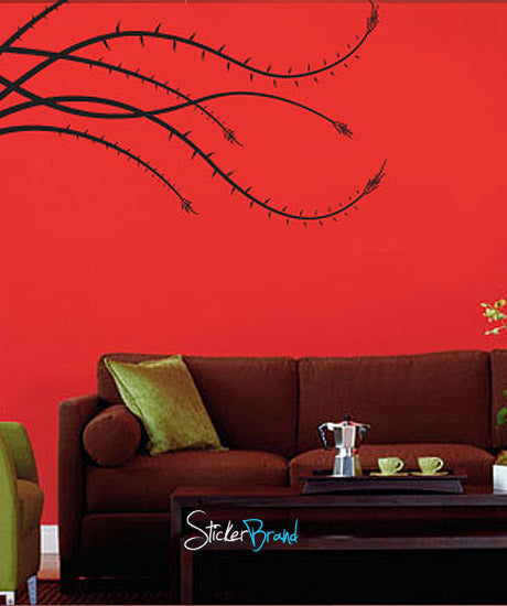 Vinyl Wall Decal Sticker Torn Bush #730