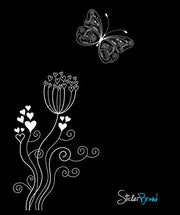 Vinyl Wall Decal Sticker Love Flower Butterfly #731