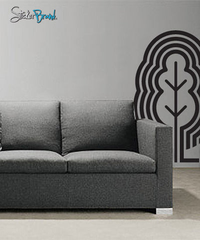 Vinyl Wall Decal Sticker Modern Tree #737