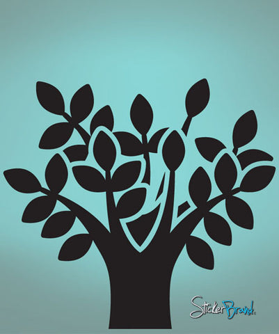 Vinyl Wall Decal Sticker Solid Tree #739