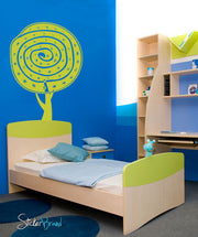 Vinyl Wall Decal Sticker Circle Tree #742