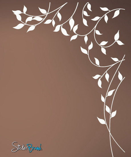 Vinyl Wall Decal Sticker Corner Leaves #743