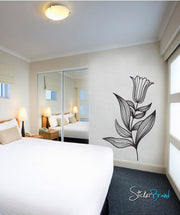 Vinyl Wall Decal Sticker Flower Tulip #748