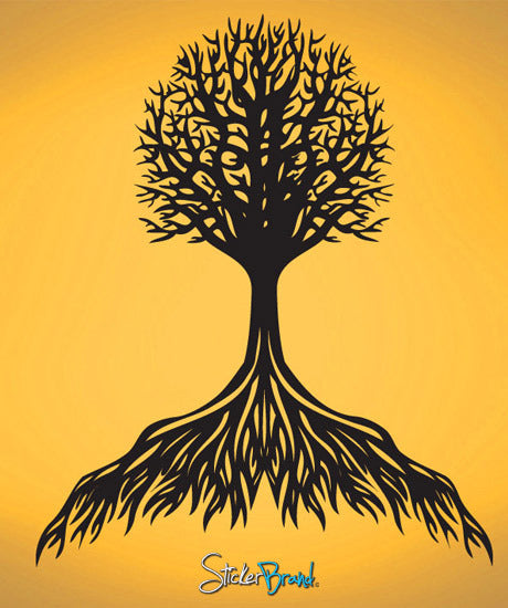 Vinyl Wall Decal Sticker Flowing Tree Roots #756