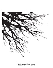Tree Branches Overhanging off Wall. Wall decal. #760