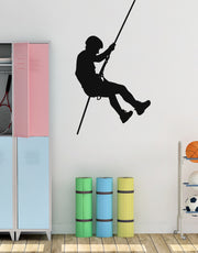 Extreme Cliff Climber Wall Decal. Mountain Climbing Sports Decor. #768