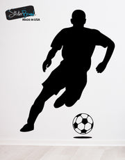 Vinyl Wall Decal Soccer Player #770