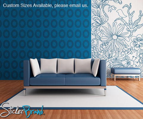 Vinyl Wall Decal Sticker Floral Bird Pattern Design #783