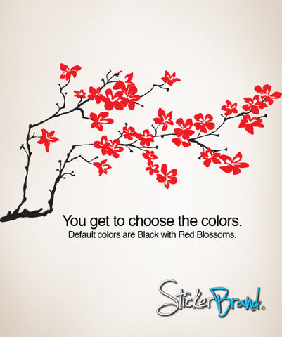 Vinyl Wall Decal Sticker Flower Branch Blossom #839