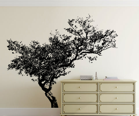 Leaning Tree Vinyl Wall Decal Sticker. #848
