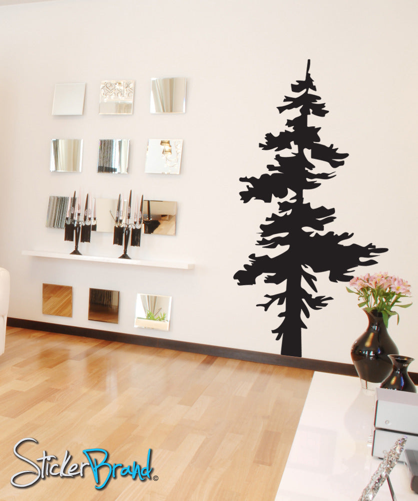 Vinyl Wall Decal Sticker Single Pine Tree #851