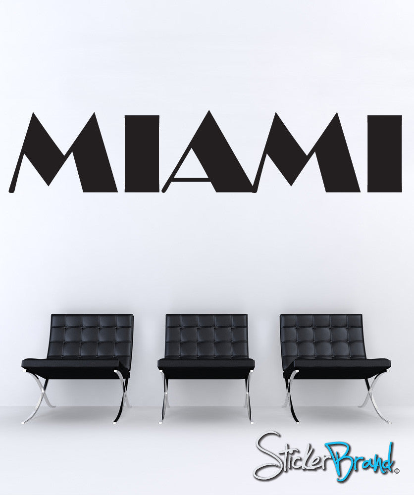 Vinyl Wall Decal Sticker Miami #872