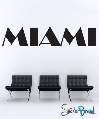 Miami Vice Style Miami Wall Decal. #872