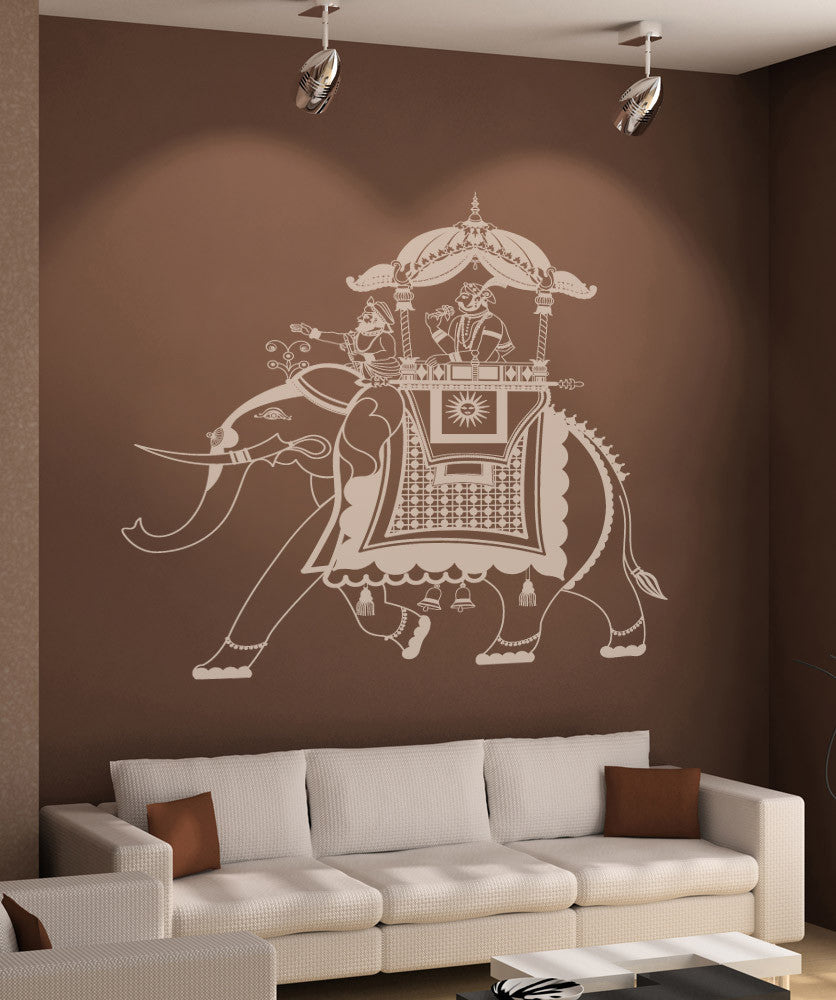 Vinyl Wall Decal Sticker Rajasthan Indian Elephant Rider #876