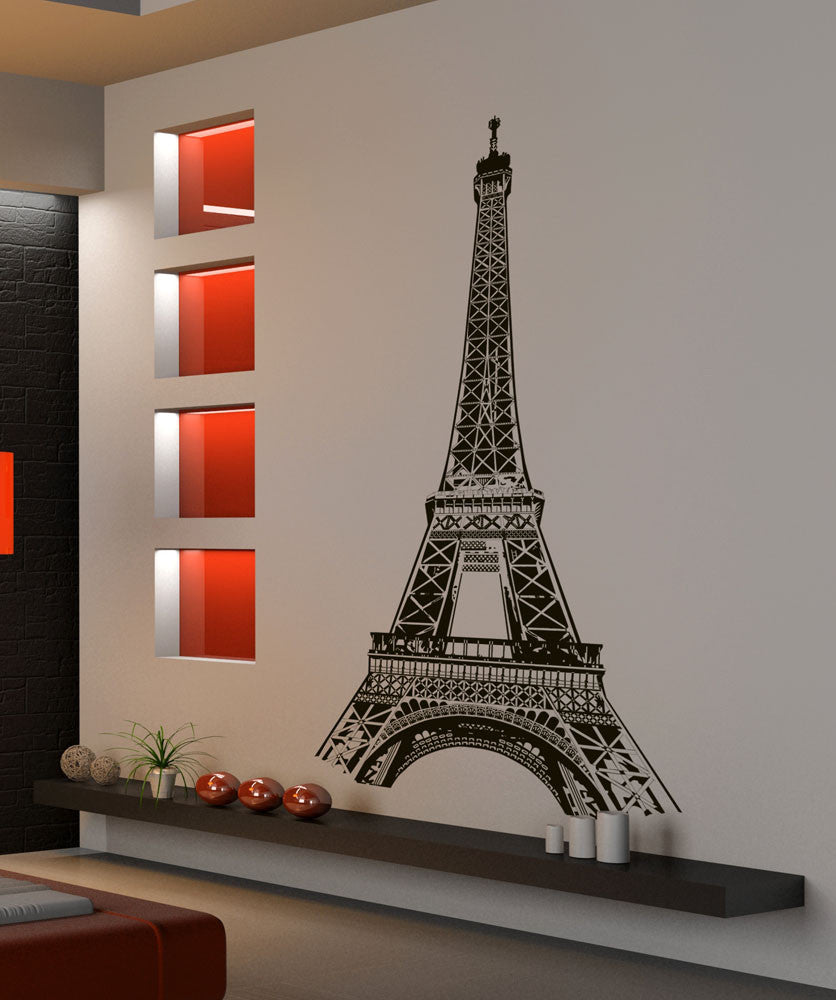 High Quality Eiffel Tower Wall Decal. Paris France. #877