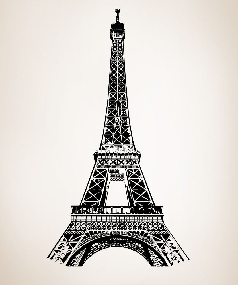 Eiffel tower wall decal eiffel tower stickers for walls vinyl wall decal sticker paris france eiffel tower 877 amipublicfo Images