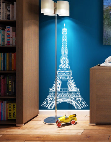 Eiffel Tower Wall Decal. Paris France. #877