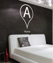 Vinyl Wall Decal Sticker Drop Pin location for Home #884