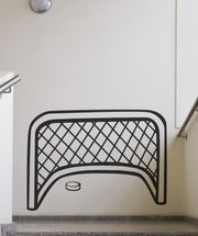 Vinyl Wall Decal Sticker Hockey Goal and Puck #885