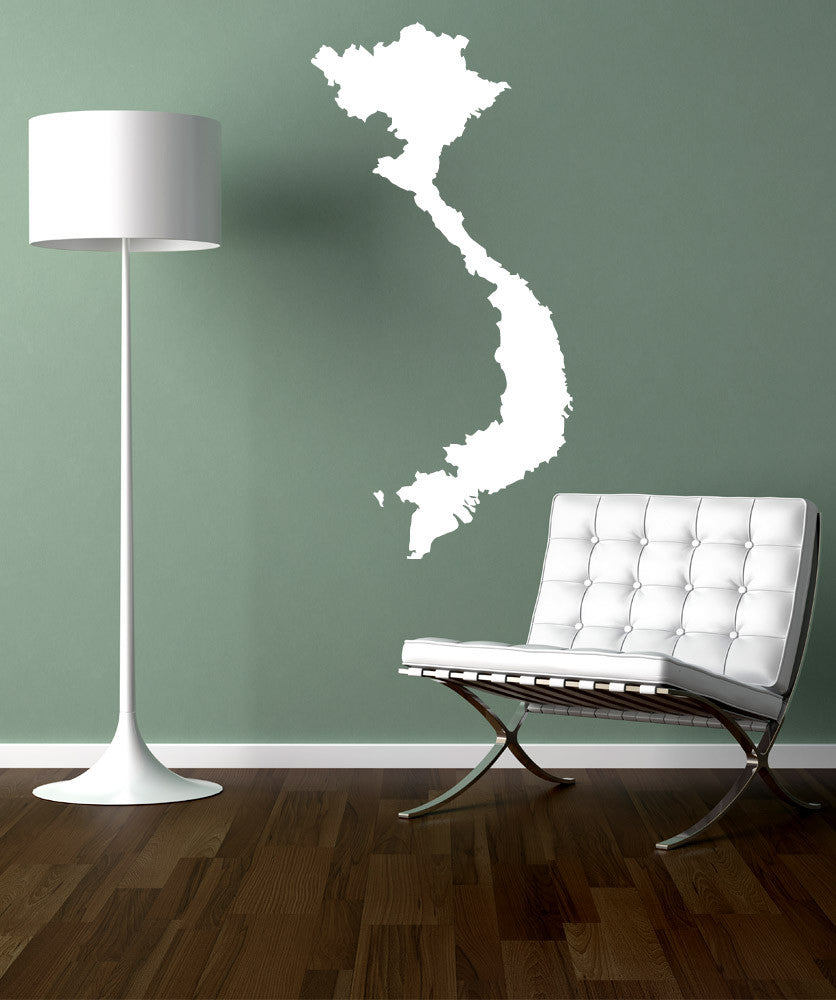 Vinyl Wall Decal Sticker Vietnam Country Silhouette 887