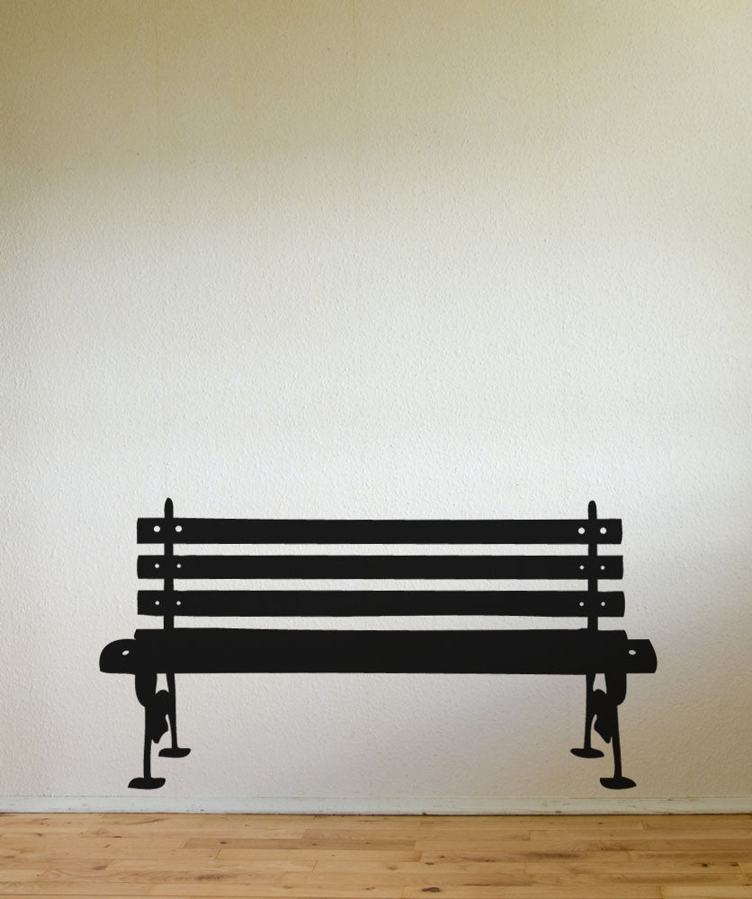 Vinyl Wall Decal Sticker Park Bench item #889