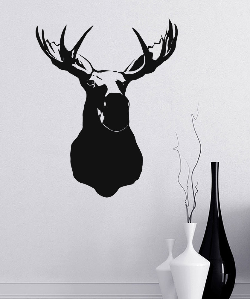 Vinyl Wall Decal Sticker Moosehead on Wall item #890