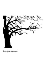 Large Spooky Bare Tree Branches Vinyl Wall Decal Sticker. #AC122