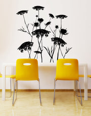 Queen Anne's Lace Flower Wall Decal. #AC218