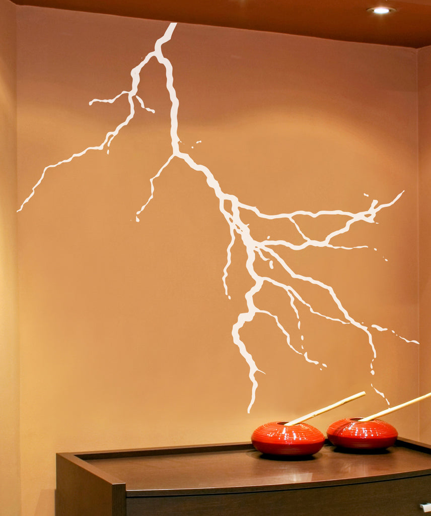 Vinyl Wall Decal Sticker Lightning Bolt Striking Aedel112
