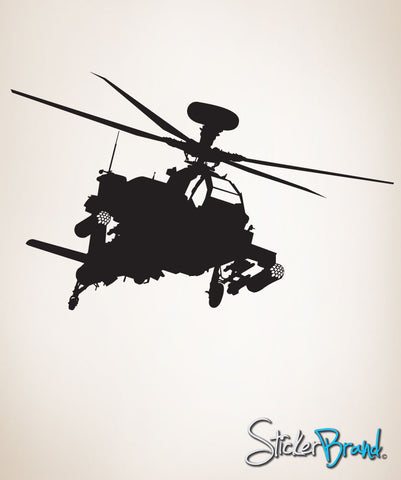 Vinyl Wall Decal Sticker Military Apache Helicopter #152